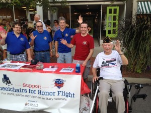 Wheelchairs for Honor Flight Team at Delaware First Friday