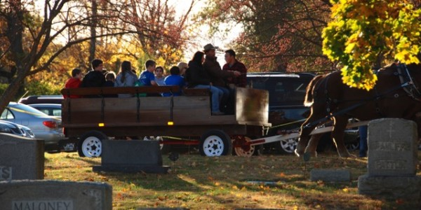 The hayride in action.